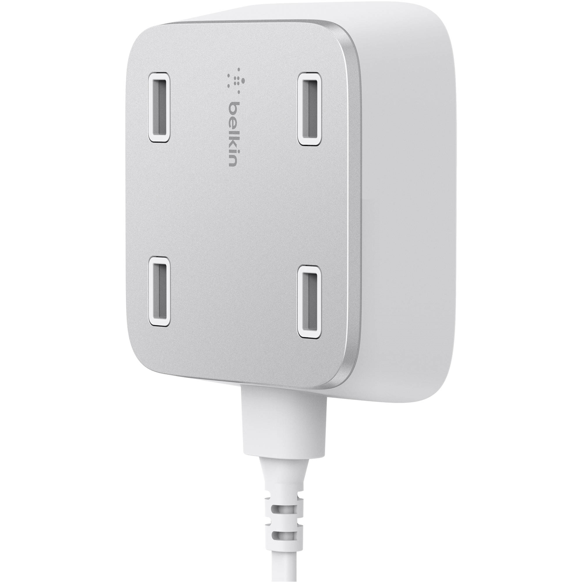 Belkin Family RockStar 4-Port USB Charger (White)