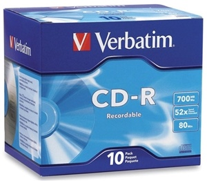 Verbatim CD-R 700MB 52x 10 Pack with Jewel Cases