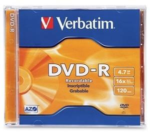 Verbatim DVD-R 4.7GB 16x 1 Pack with Jewel Case