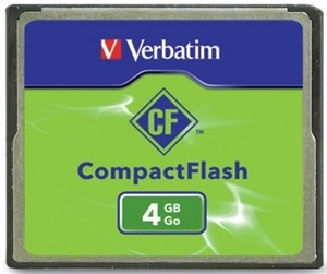Verbatim Compact Flash Card 4GB
