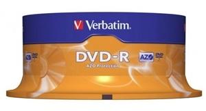 Verbatim DVD-R 4.7GB 16x 25 Pack on Spindle