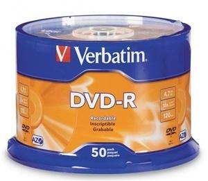 Verbatim DVD-R 4.7GB 16x 50 Pack on Spindle