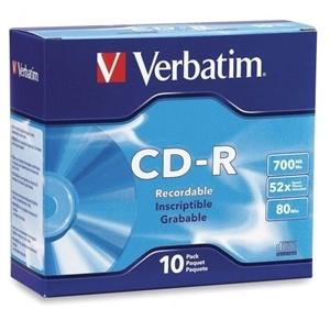 Verbatim CD-R 700MB 52x 10 Pack with Slim Cases