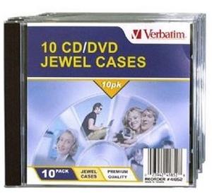 Verbatim CD/DVD 10 Pack Clear Jewel Cases