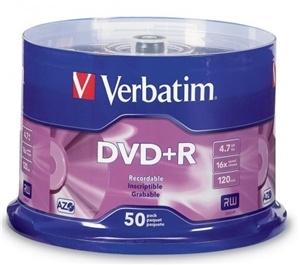 Verbatim DVDR 4.7GB 16x 50 Pack on Spindle