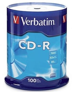 Verbatim CD-R 700MB 52x 100 Pack on Spindle