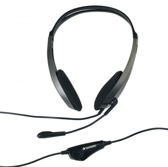 Verbatim Multimedia Headset with Microphone