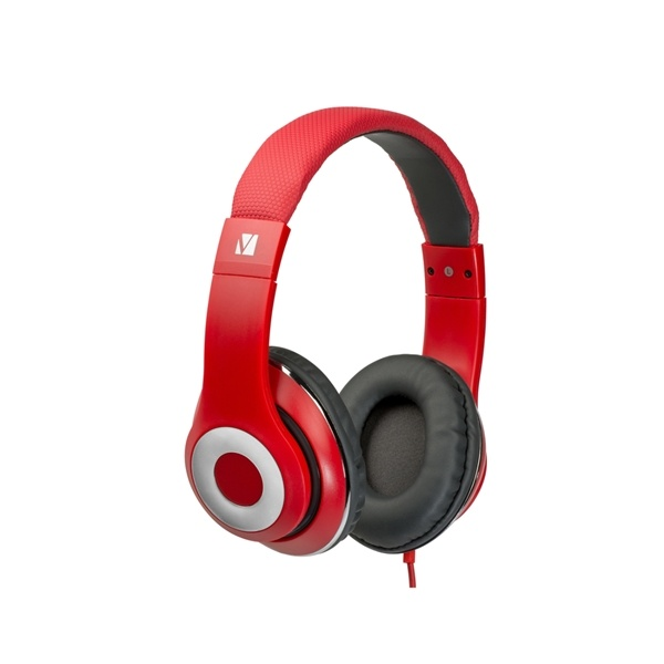 Verbatim Classic Stereo Headphones with Microphone Red