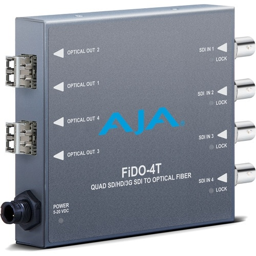 AJA 4-Channel 3G-SDI to Multi-Mode LC Fiber Transmitter