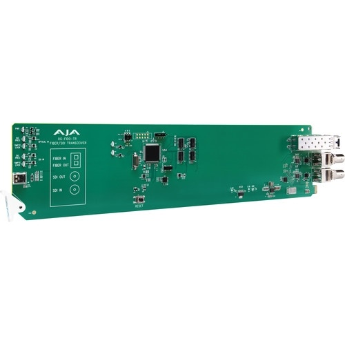 AJA openGear 1-Channel 3G-SDI/LC Multi-Mode LC Fiber Transceiver with DashBoard Support