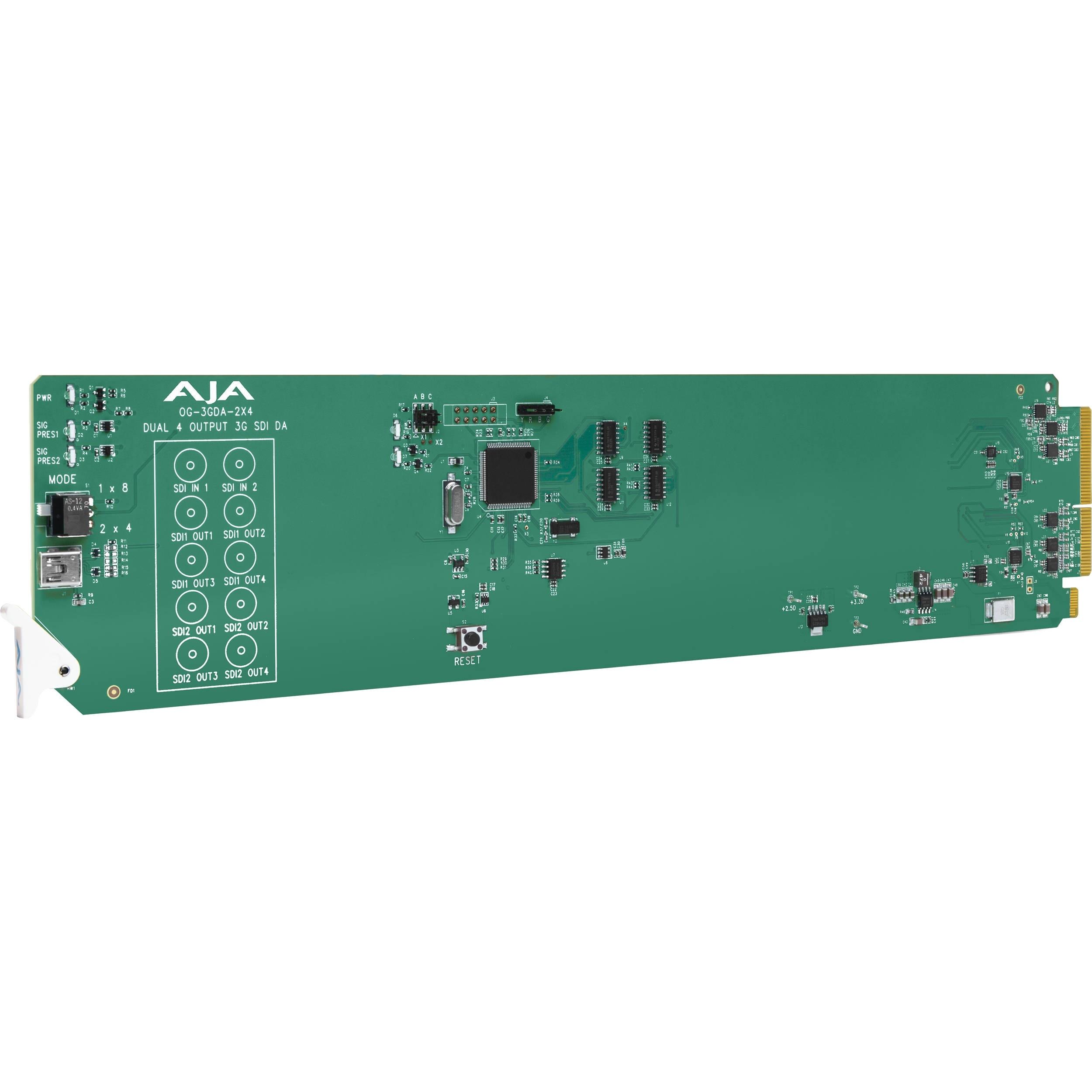 AJA 2x4 3G-SDI Reclocking Distribution Amplifier Card