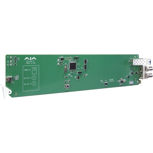 AJA openGear 1-Channel Single Mode LC Fiber to 3G-SDI Receiver with DashBoard Support