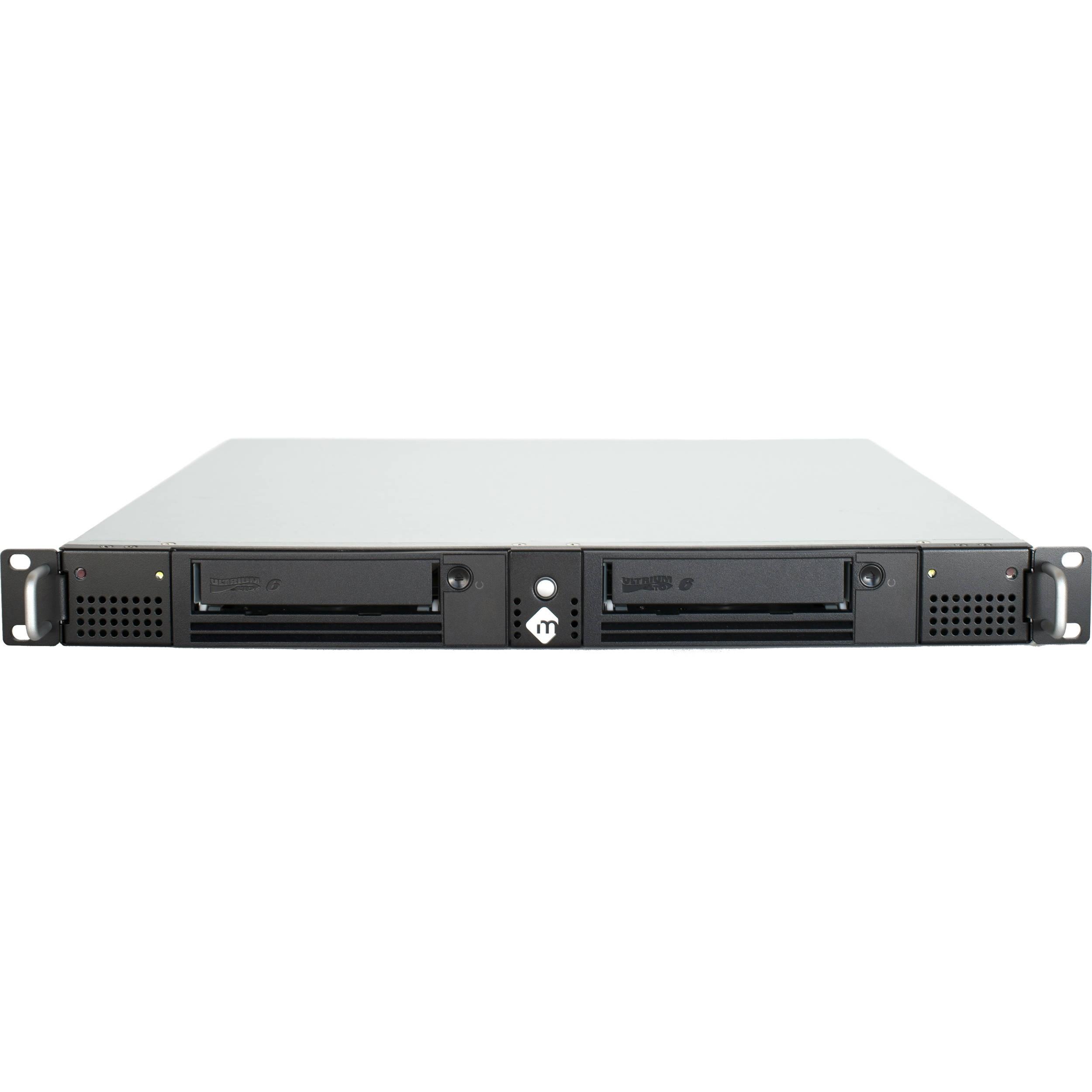 mLogic mRack Thunderbolt LTO-6 Dual Tape Archiving Solution