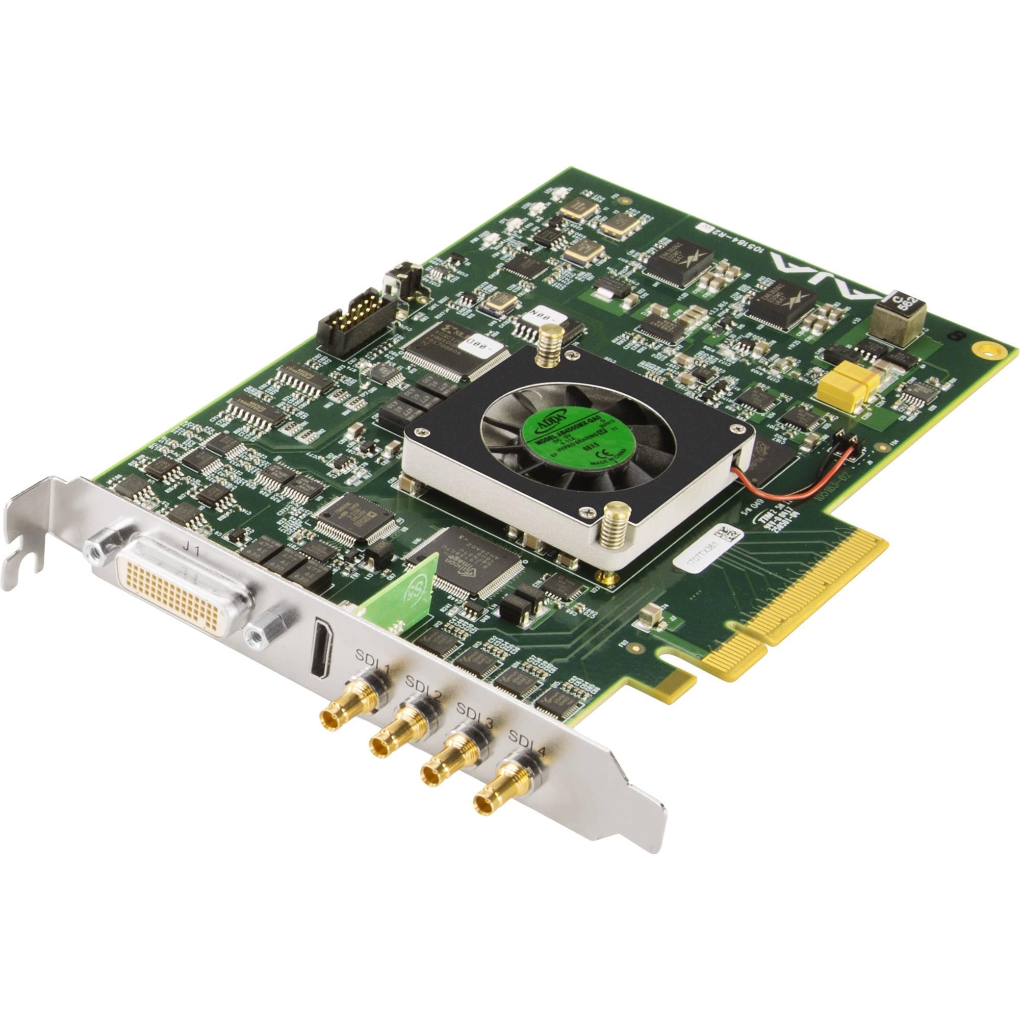 AJA KONA 4 4K/2K/3G/Dual Link/HD/SD 10-Bit PCIE Card, HDMI 1.4A Output (Bracket, Bob, 3 Cables etc.)