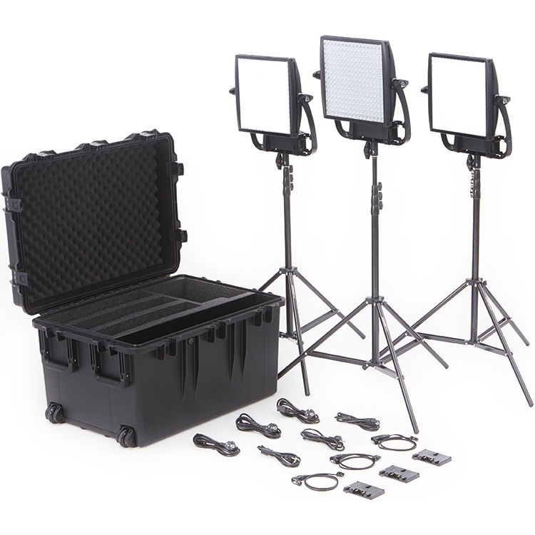 Litepanels Astra Bi-Colour LED Traveler Trio Kit (Gold Mount)