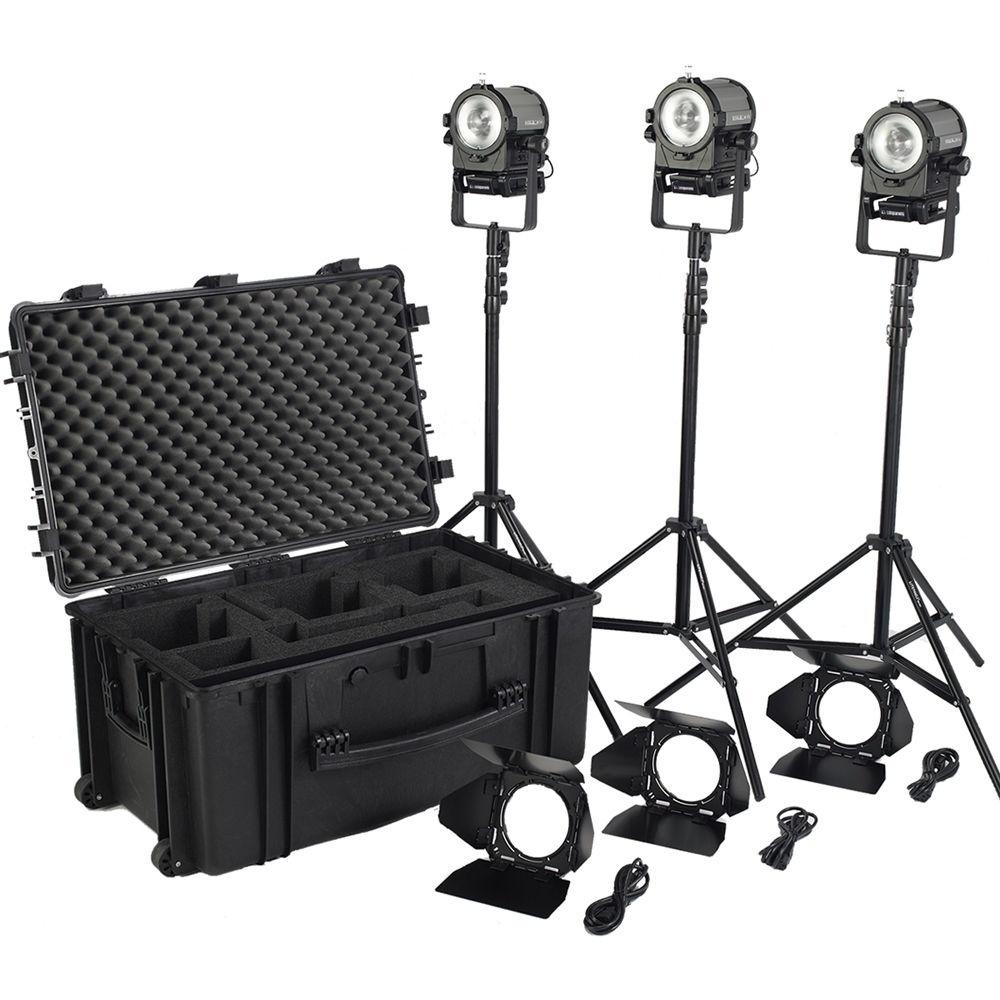 Litepanels Sola 4+ Daylight Fresnel 3-Light Traveler Kit