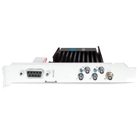 AJA CORVID 44 12G BNC Compact 12G BNC Power 8-Lane PCIe 3.0 I/O Card w/4x BNC Ports, Tall Bracket