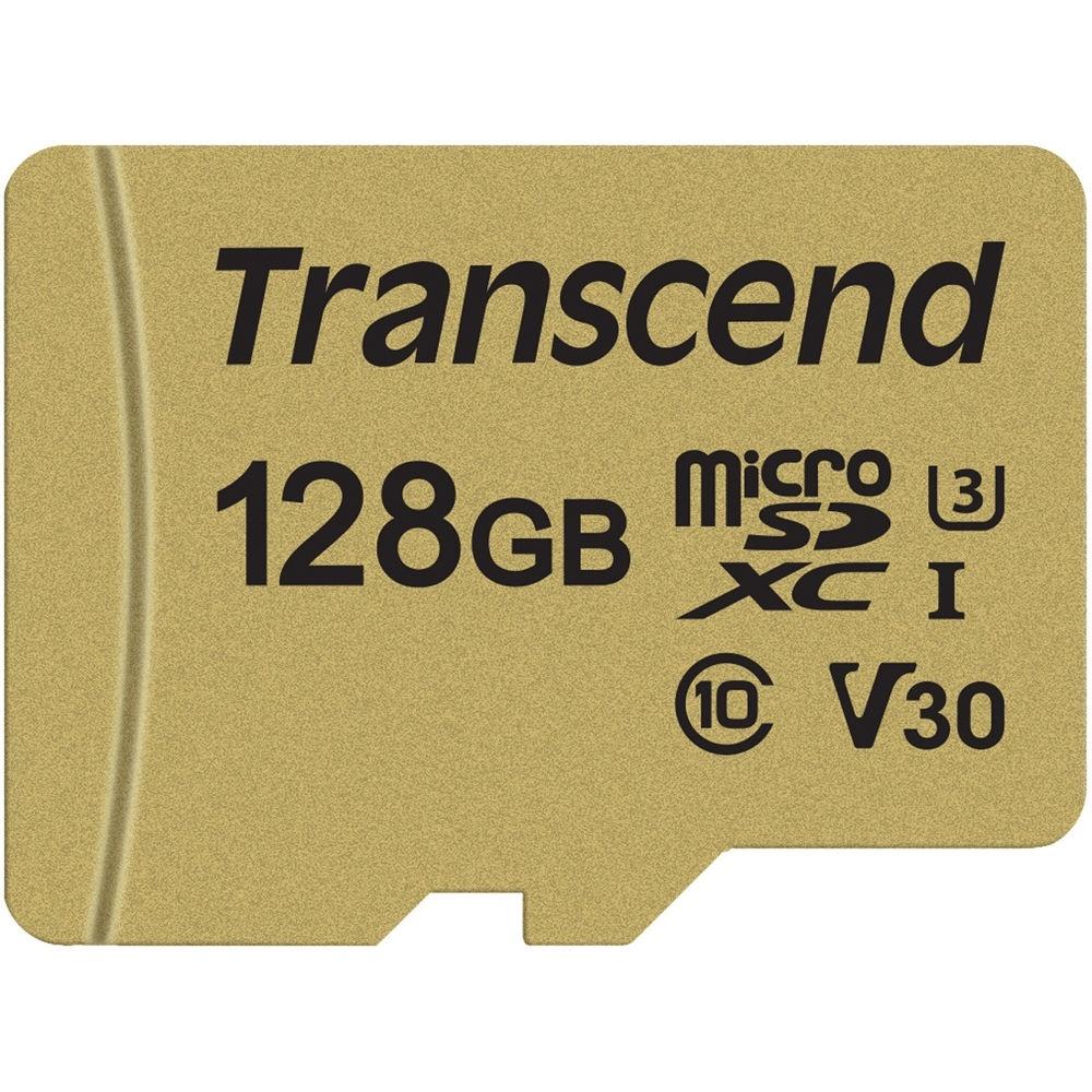 Transcend 128GB 500S UHS-I microSDXC Memory Card