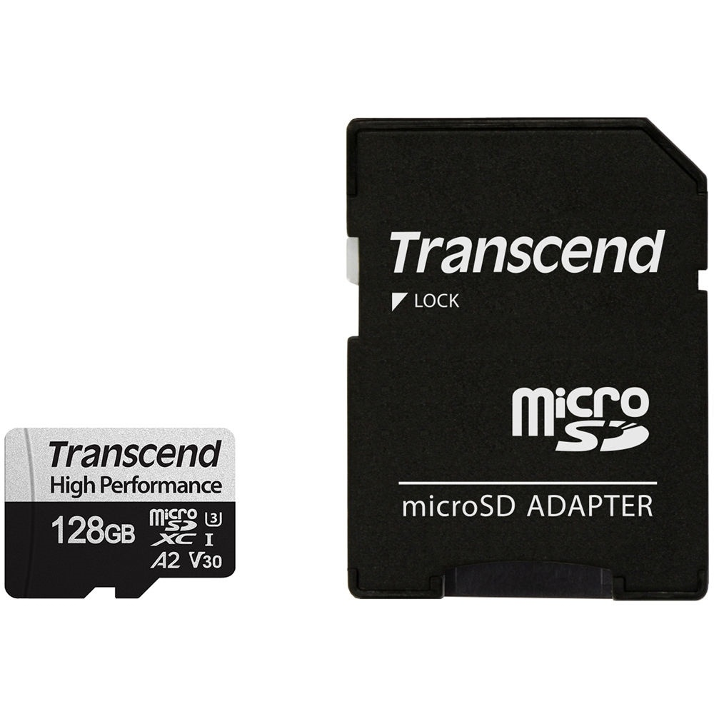 Transcend 128GB 330S UHS-I microSDXC Memory Card with SD Adapter