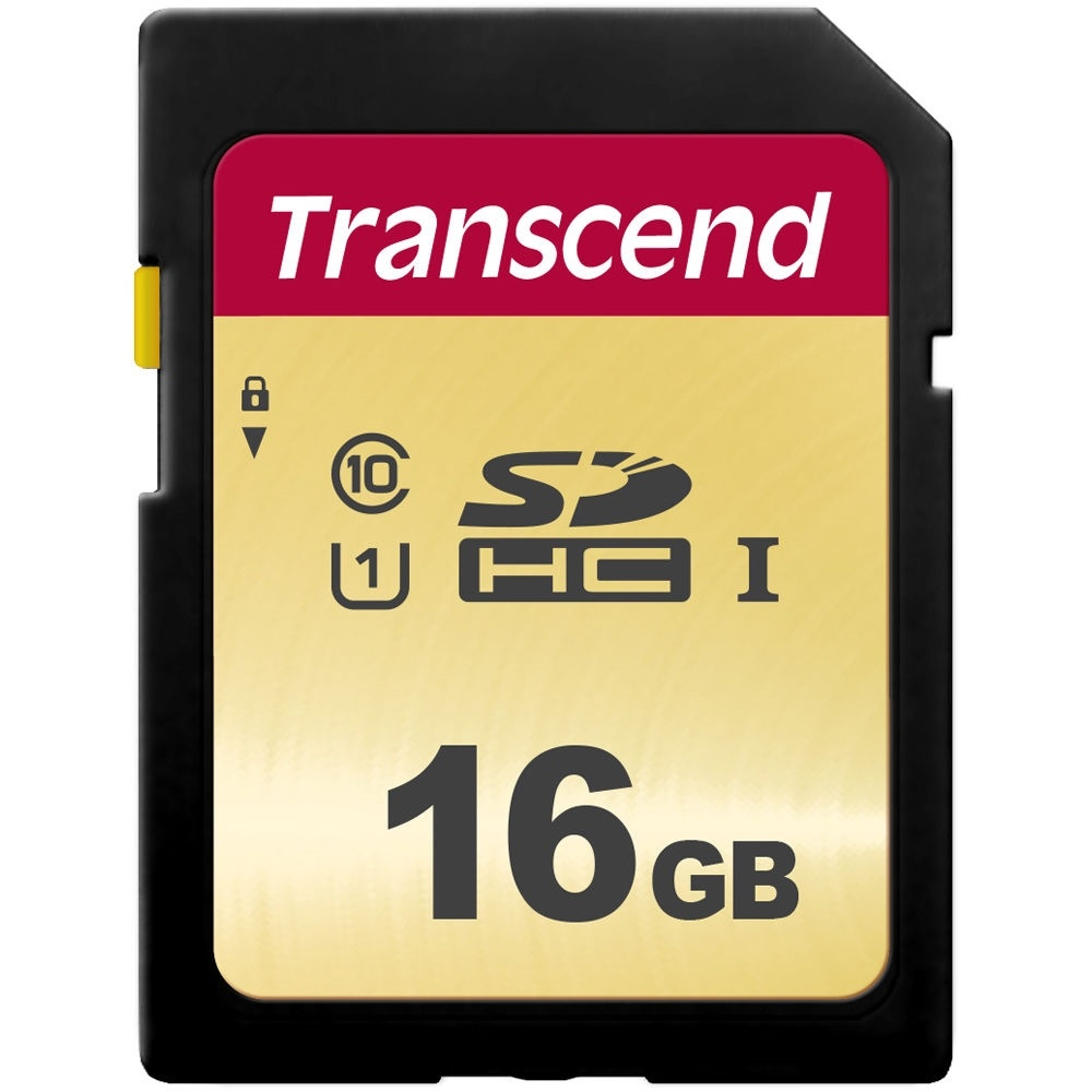 Transcend 16GB 500S UHS-I SDHC Memory Card