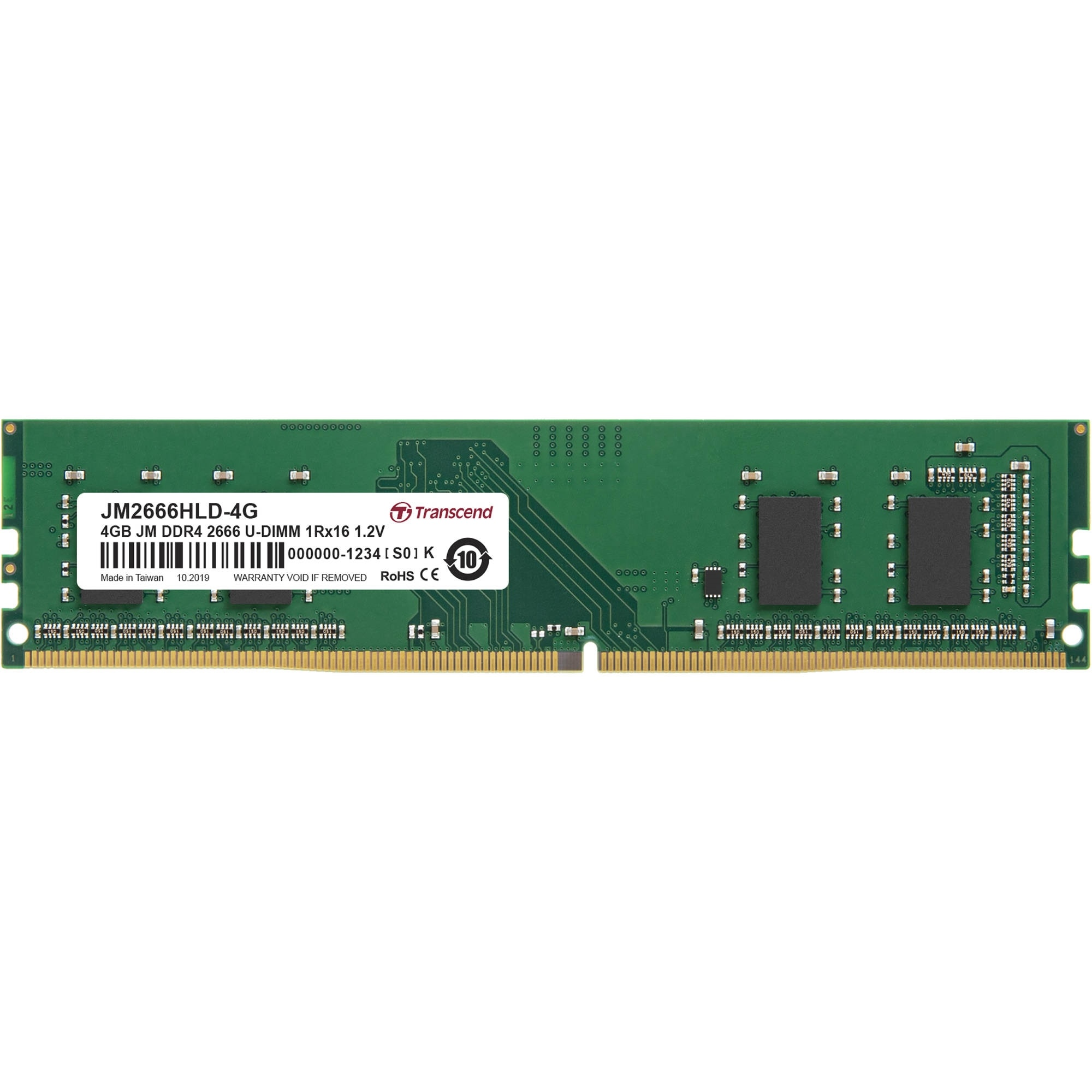 Transcend 4GB JetRam DDR4 2666 MHz CL19 UDIMM Memory Module (512Mx16 Chip)