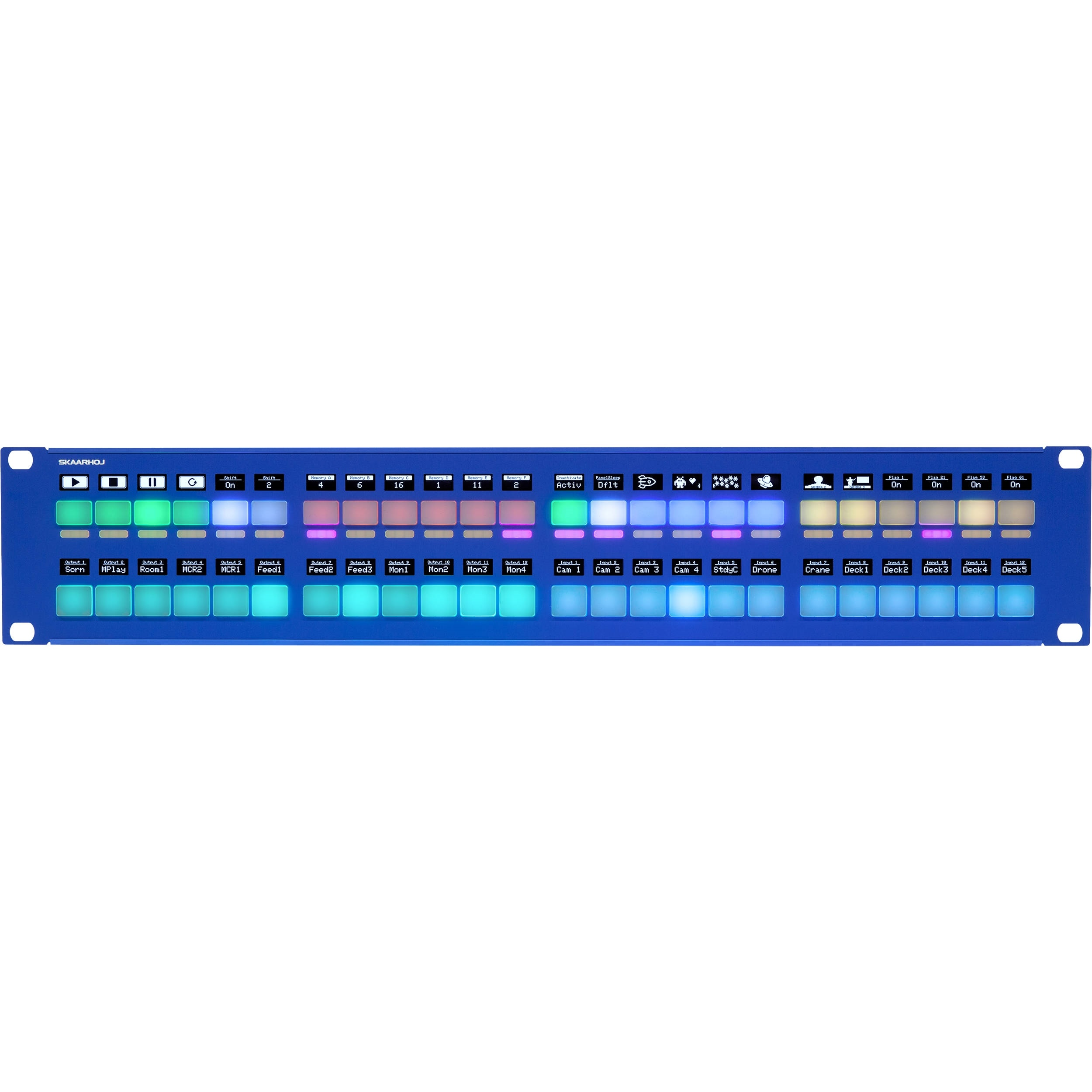 SKAARHOJ Rack Fly Duo Universal Control Panel