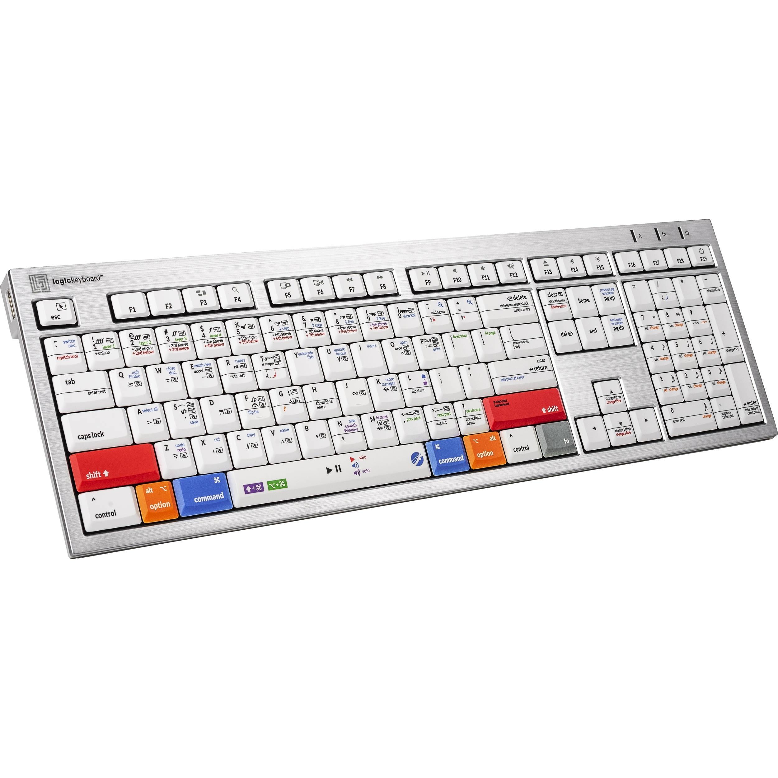 LogicKeyboard ALBA Keyboard for MakeMusic Finale (Mac, American English)