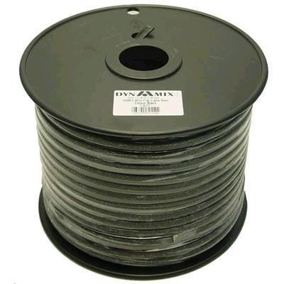 DYNAMIX 100m Roll 6-Wire Flat Cable Black Colour