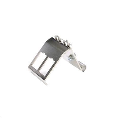 DYNAMIX 2 Port Keystone to DIN Mount Metal Adapter Plate
