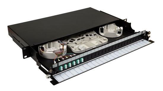 DYNAMIX 19' 1U Fibre Tray 12C LC MM Fully Loaded