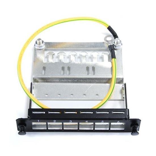 DYNAMIX 6x Port Unloaded Keystone Plate for FPP3PB Fibre Tray