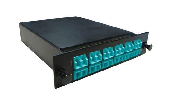 DYNAMIX MPO OM3/4 12 Port LC Duplex Multimode 24 Fibre Cassette