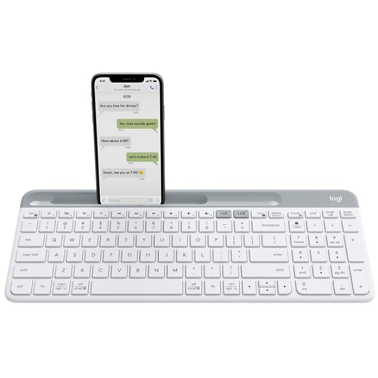 Logitech K580 Multi-Device Wireless Keyboard (White)