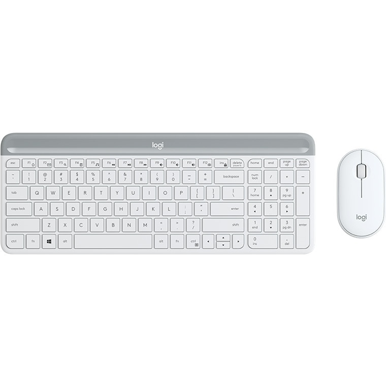 Logitech MK470 Slim Wireless Desktop Kit (White)