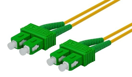 DYNAMIX 10M 9u SC APC/SC APC Duplex Single-Mode OS2 G657A1 Bend Insensitive Fibre Patch Lead