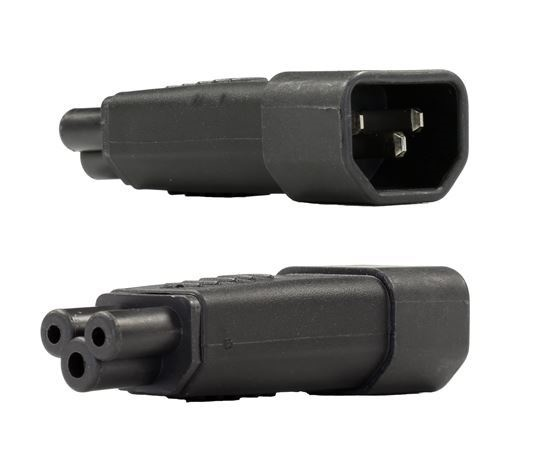 DYNAMIX IEC Male C14 to C5 Clover Leaf Female Adapter