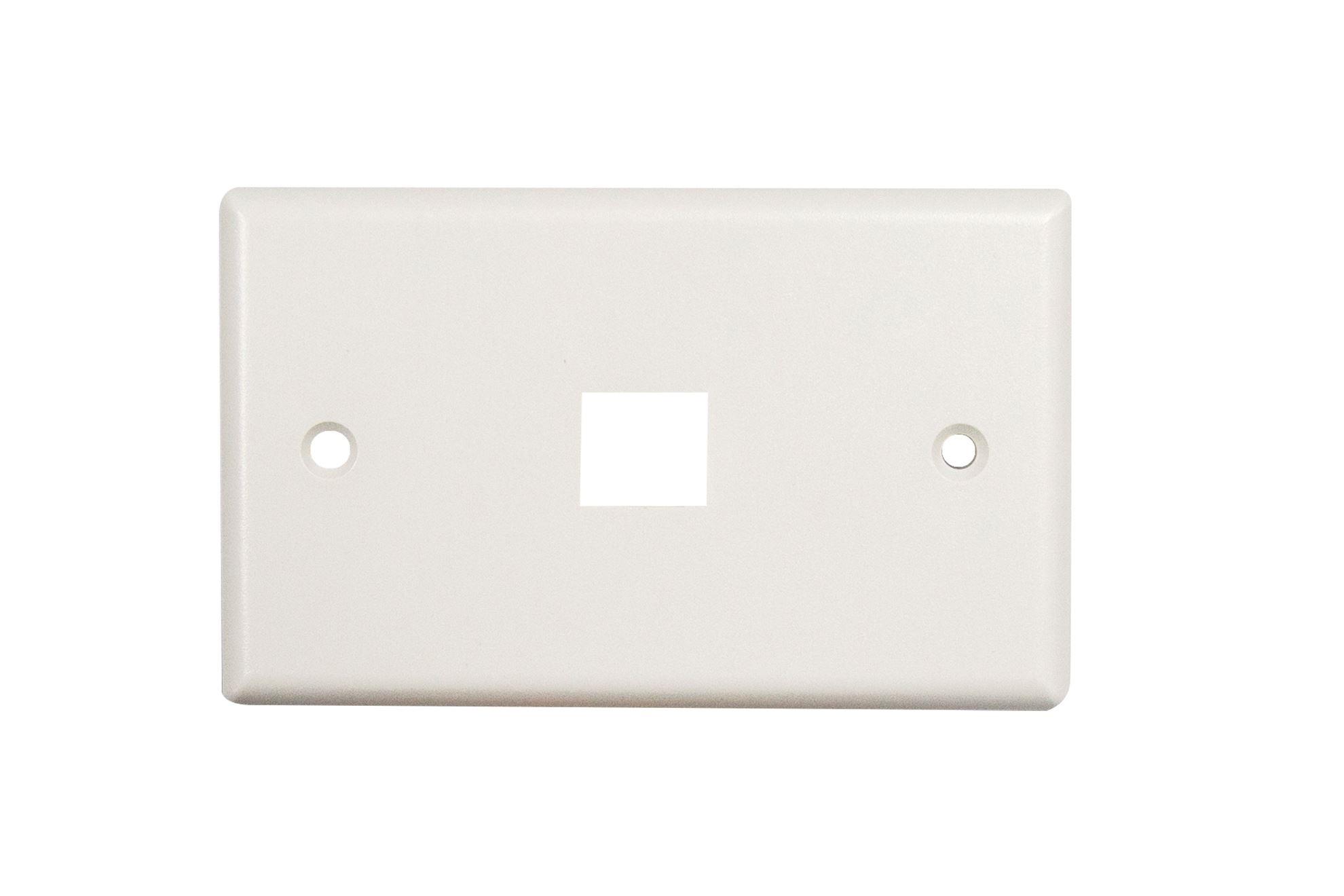 DYNAMIX Single Port Face Plate for 110/Keystone Jacks