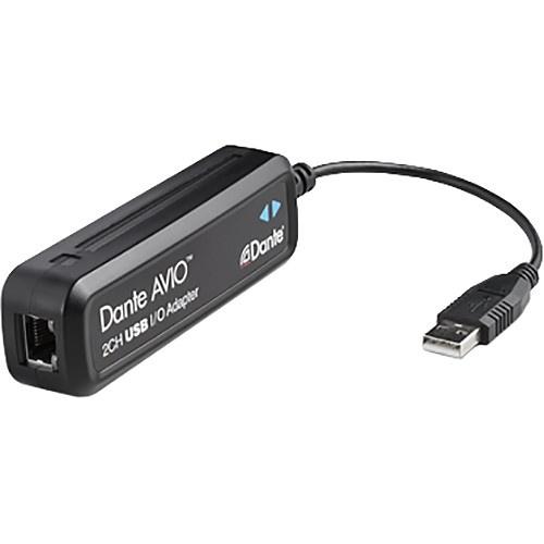 Dante AVIO 2x2 USB I/O Adapter for Dante Audio Network