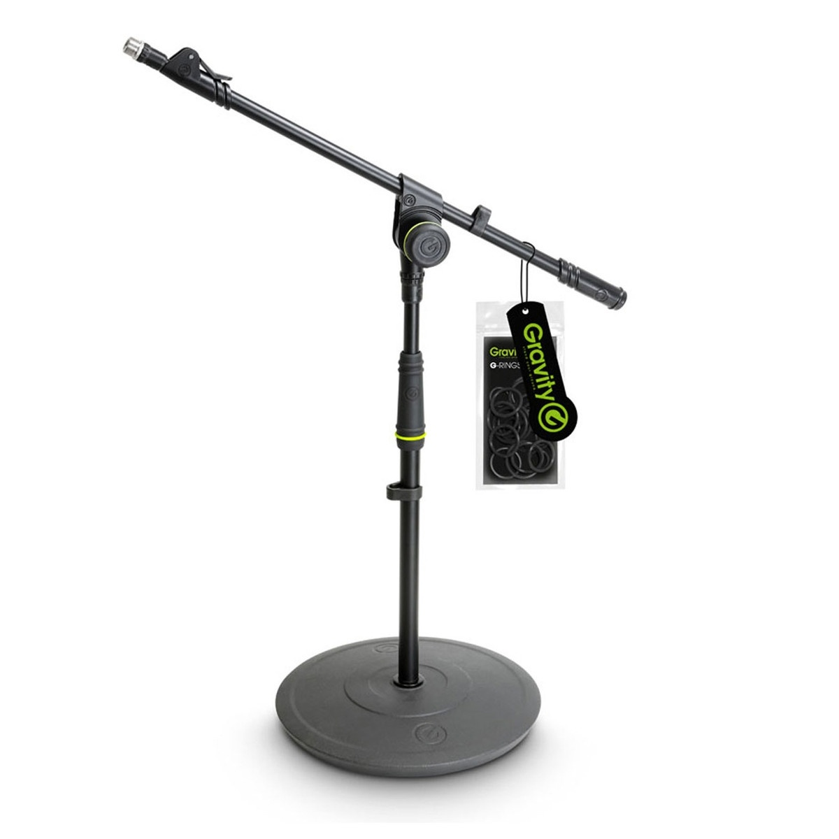 Gravity GMS2212B Short Microphone Stand with Telescoping Boom