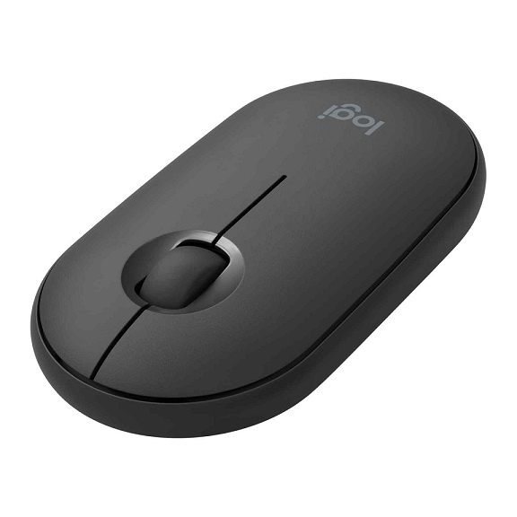 Logitech M350 Pebble USB Wireless/Bluetooth Mouse - Graphite