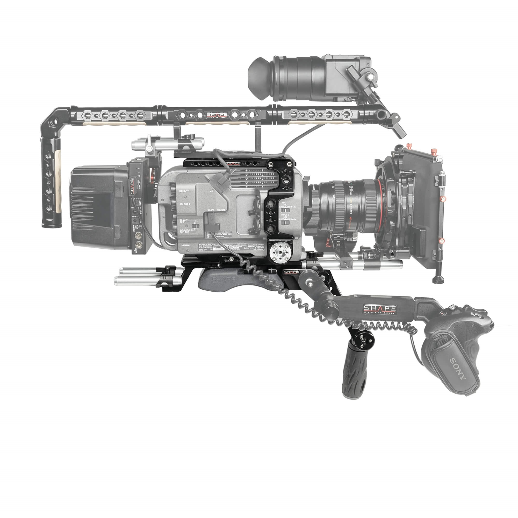 SHAPE Sony FX9 Camera Cage Baseplate with Handle