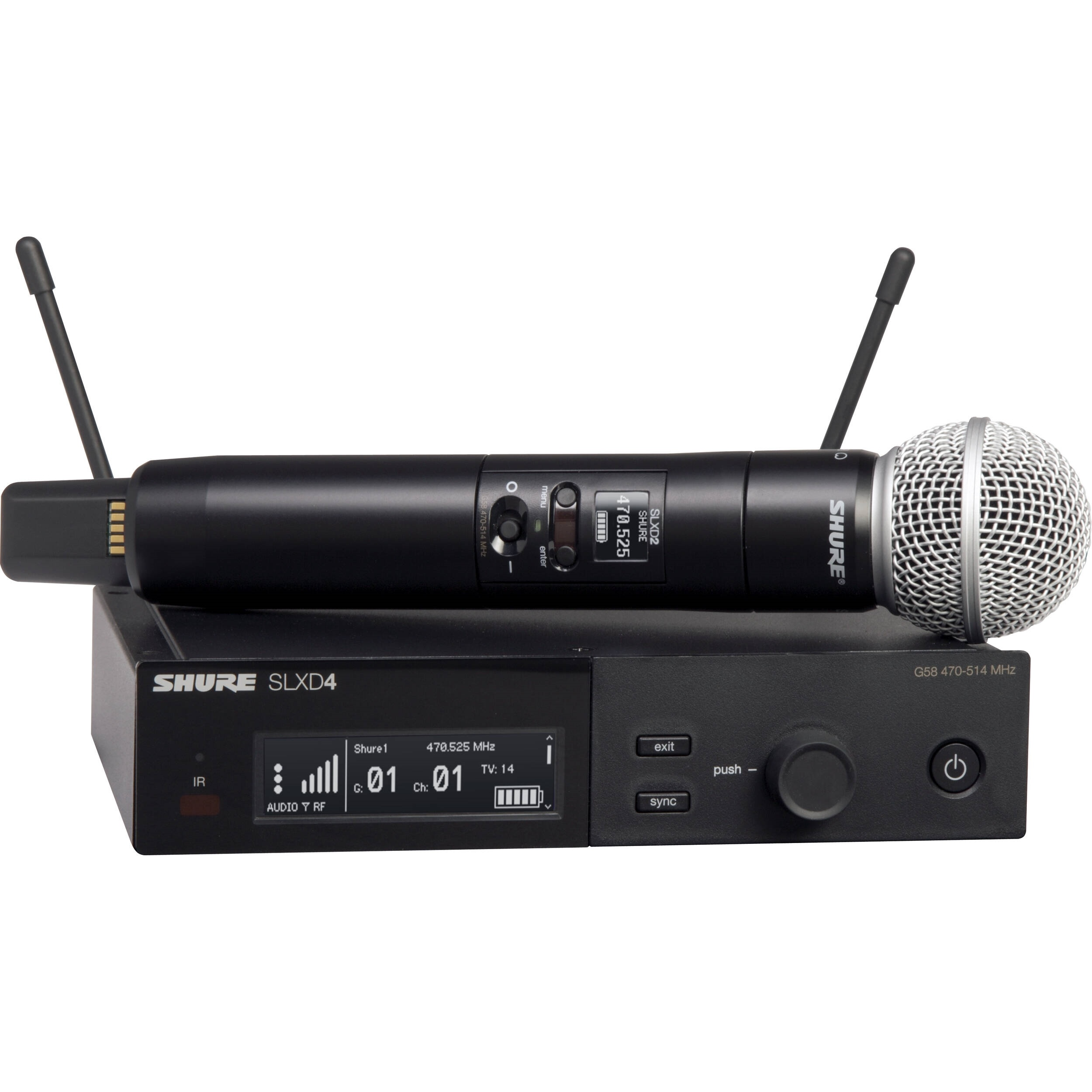 Shure SLXD24/SM58 Digital Wireless Handheld Microphone System with SM58 Capsule