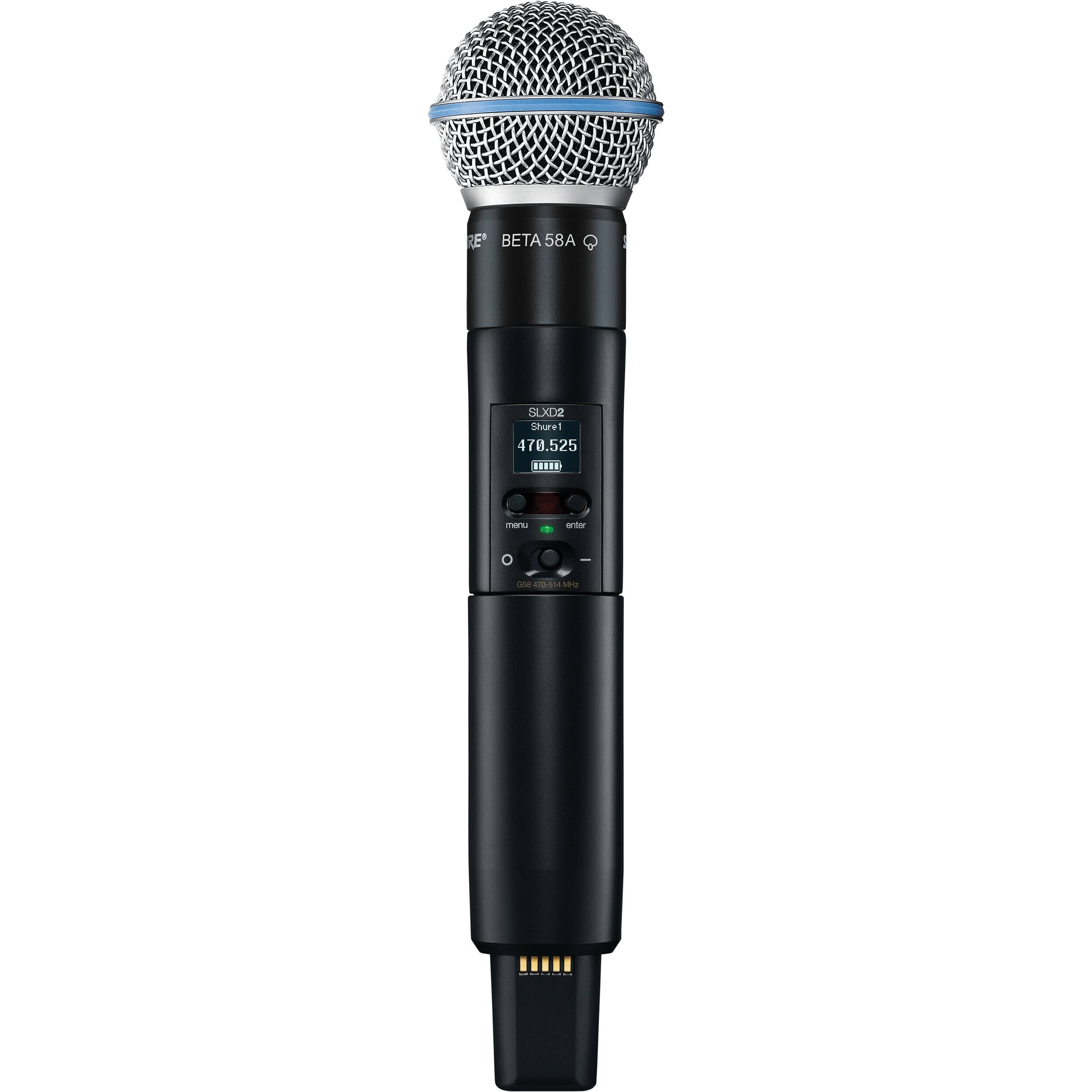 Shure SLXD2/B58 Digital Wireless Handheld Microphone Transmitter with Beta 58 Capsule