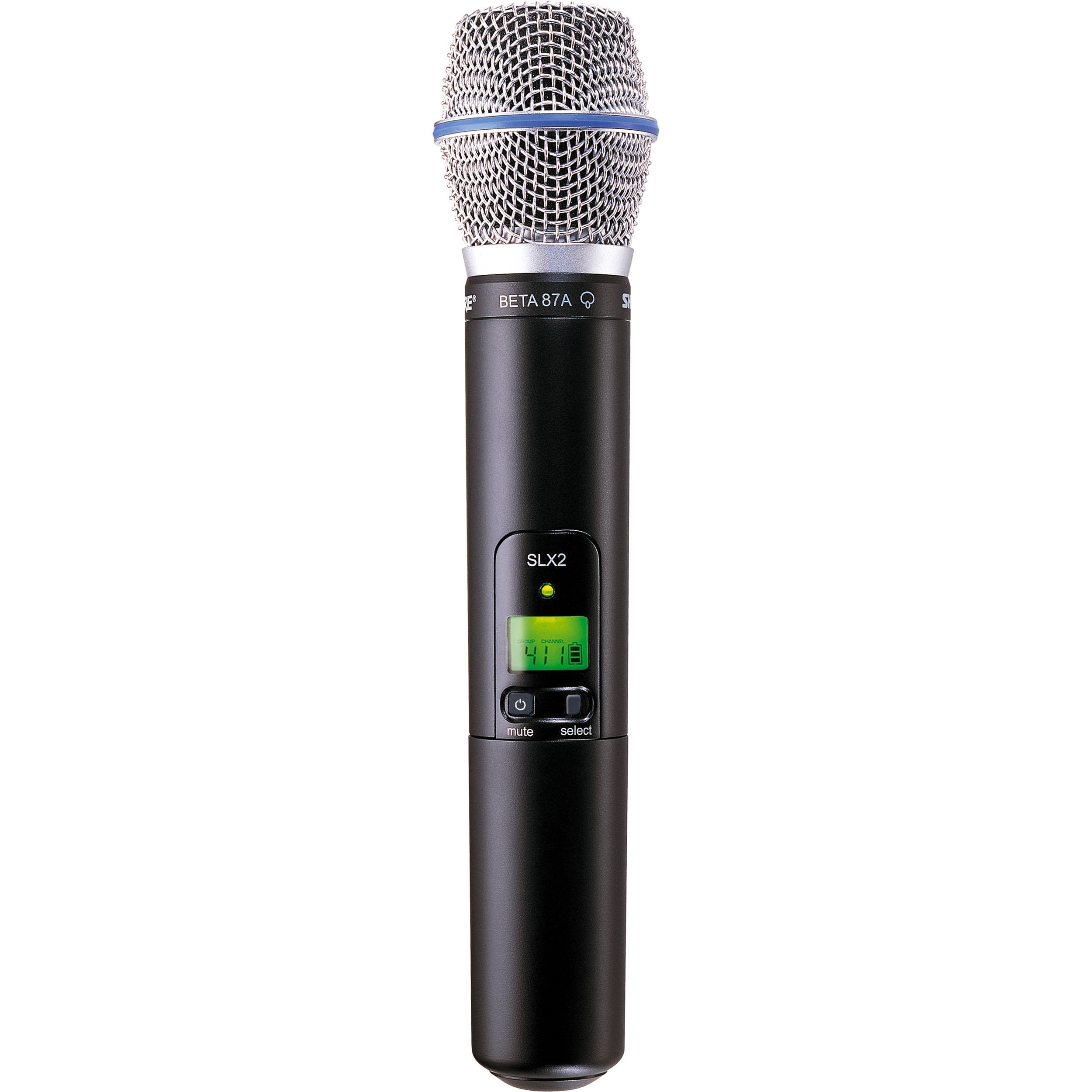 Shure SLXD2/BETA87A Handheld Wireless Microphone Transmitter System With Beta 87A Capsule