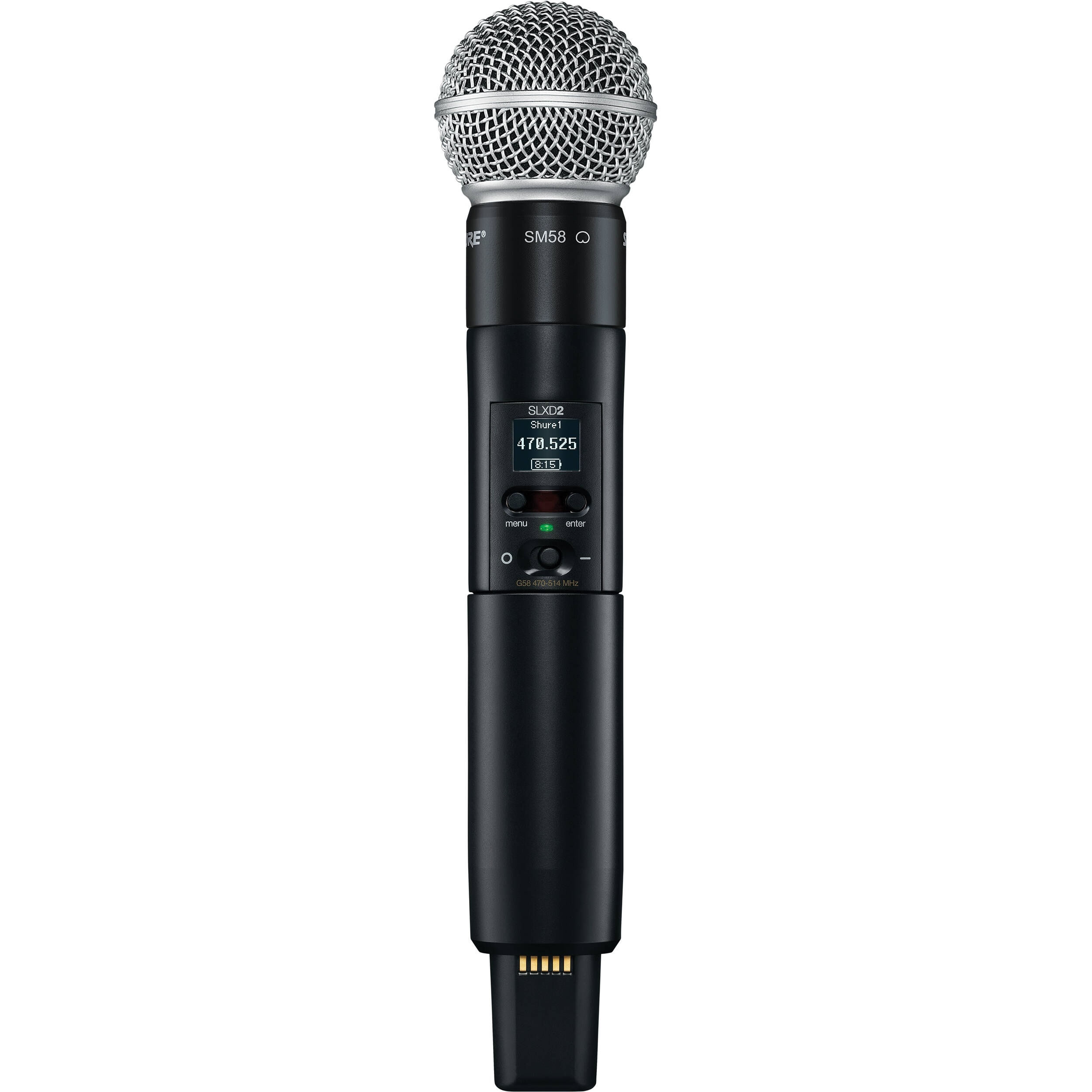 Shure SLXD2/SM58 Digital Wireless Handheld Microphone Transmitter with SM58 Capsule