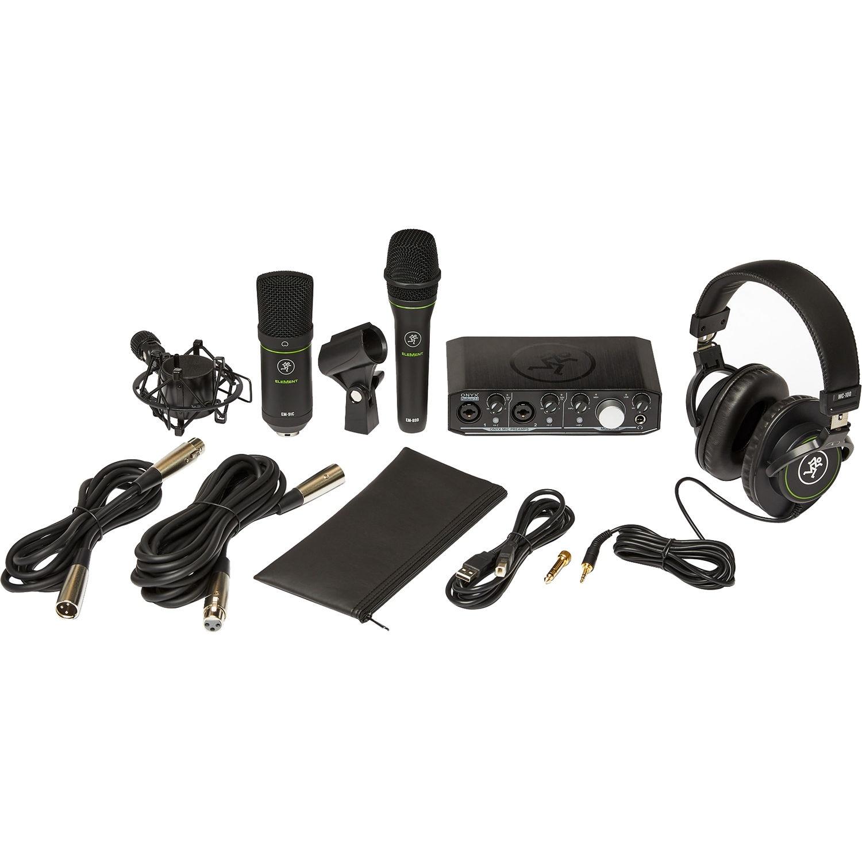 Mackie Producer Bundle USB Audio/MIDI Interface, Condenser Mic, Dynamic Mic, and Headphones