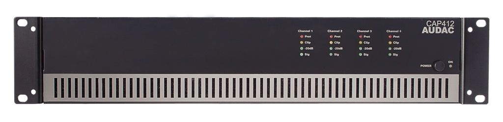 Audac CAP412 Quad-Channel Power Amplifier 4 X 120w 100v