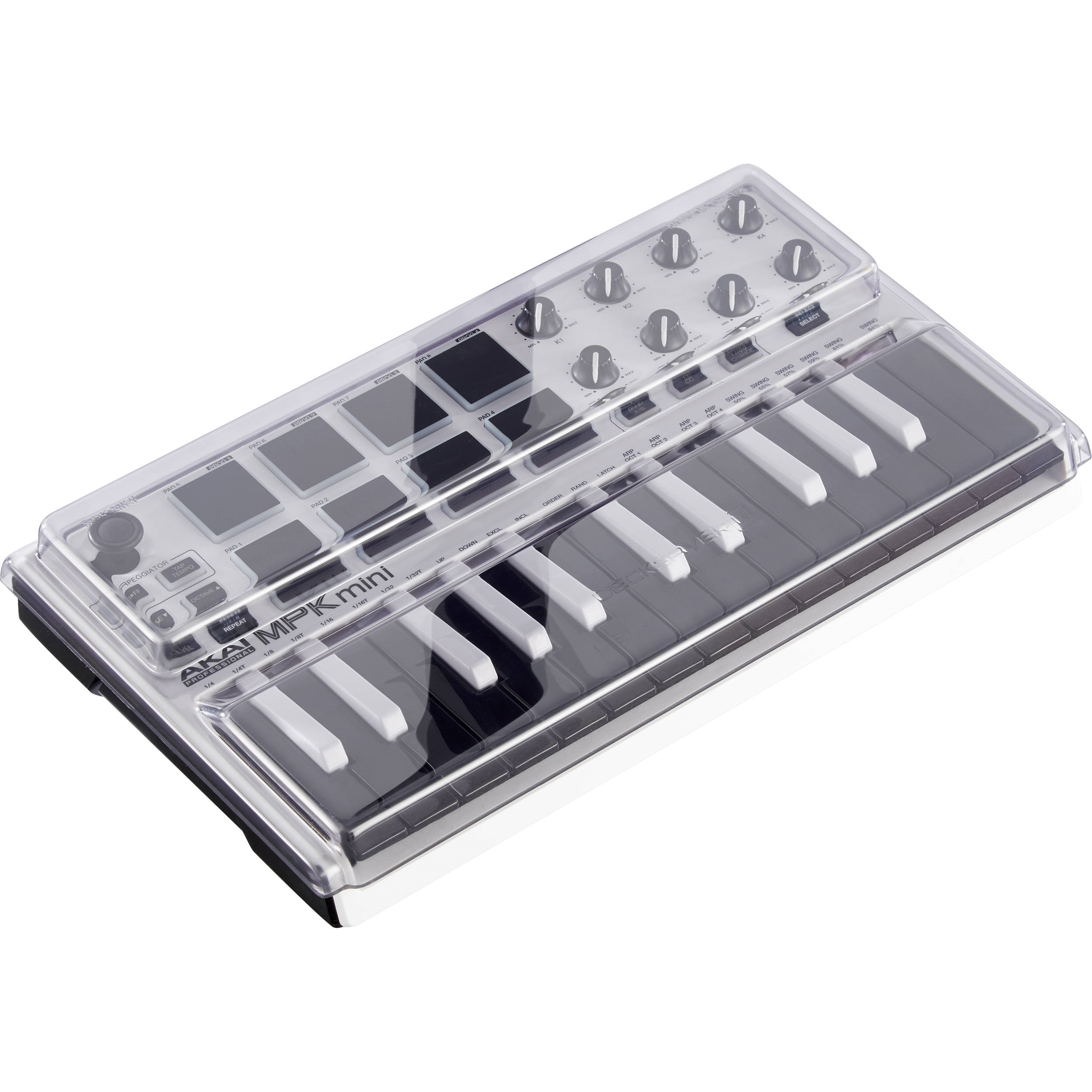 Decksaver Cover for Akai MPK Mini MK2 Keyboard Controller (Smoked/Clear)