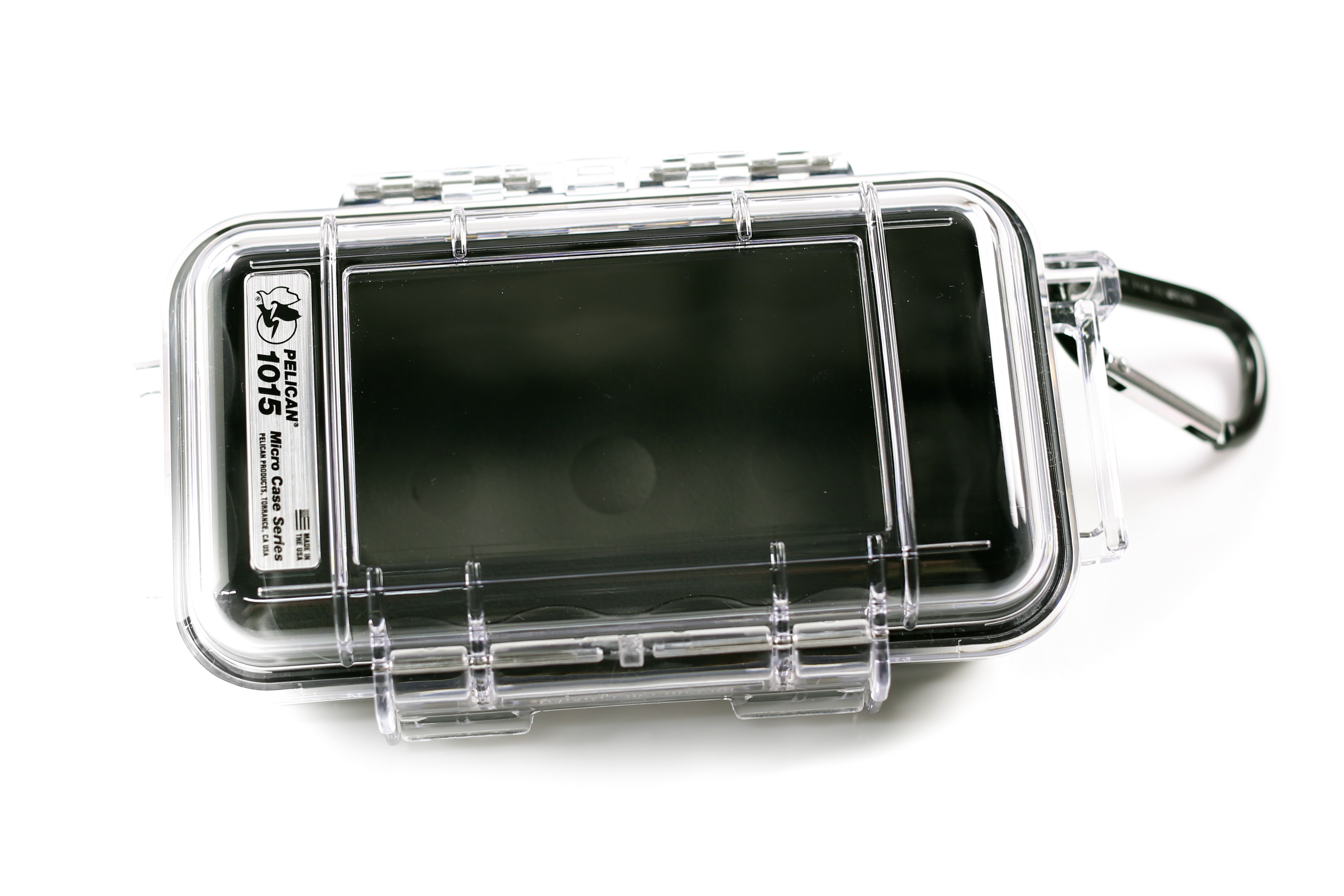 Pelican 1015 Micro Case (Black/Clear)