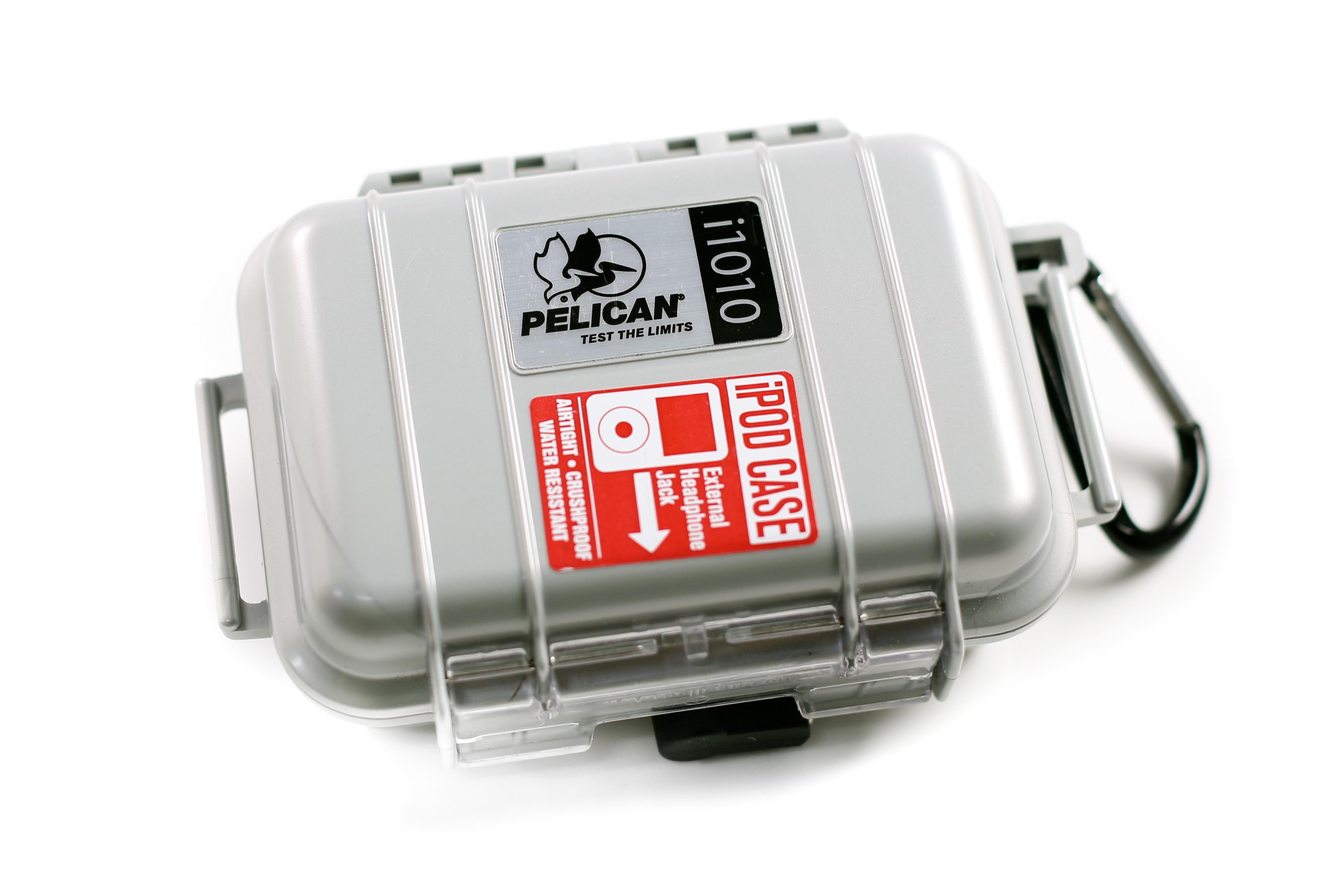 Pelican i1010 iPod Case (Silver)